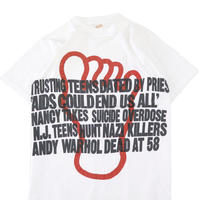 "90's ""ANDY WARHOL DEAD AT 58"" プリント Tシャツ Lサイズ USA製"