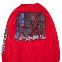 "90's~00's ""DRAGONBALL Z"" 両面 プリント ロングスリーブ Tシャツ Lサイズ"