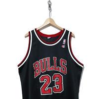"90's NBA BULLS メッシュタンクトップ ""JORDAN 23"" Championボディ"