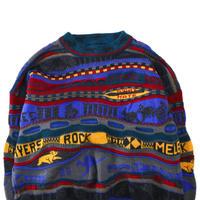 90's~ HYSPORT 3D Knit Wool Sweater AUSTRALIA製