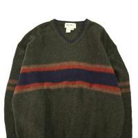 90's Eddie Bauer Vネック Wool Knit XLサイズ USA製