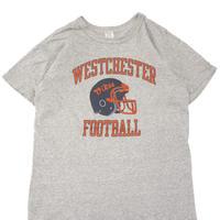 "80's CHAMPION ""WESTCHESTER FOOTBALL"" プリント Tシャツ Lサイズ USA製"