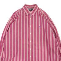 ~90's Ralph Lauren ストライプ ボタンダウン シャツ  XLサイズ