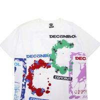 "90's CONCAVE ""DECONTROL"" 総柄プリント Tシャツ XLサイズ"