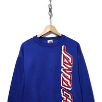 90's SANTA CRUZ 袖プリント入り ロゴスウェット USA製 Lサイズ