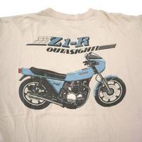 "70's~ HI CRU KAWASAKI ""Z1-R"" バックプリント Pocket Tシャツ Dusty-Pink"