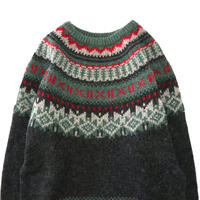 "80's~90's Woolrich Nordic Pattern ""Gucci Color"" Wool×Mohair Sweater"