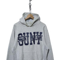 80's CHAMPION RW SWEAT PARKA プリントタグ GREY×NAVY
