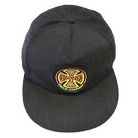 90's OLD INDEPENDENT 5-Panel Cap Black×Yellow