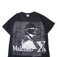 """90's """"Malcolm X"""" 両面 プリント Tシャツ XLサイズ USA製"""