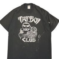 "90's FRUIT OF THE LOOM ""TATBOY CLUB"" 両面 プリント Tシャツ Black XLサイズ USA製"