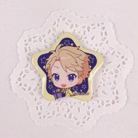 あんさんぶるスターズ! アニメイトカフェ トレーディング星型缶バッジB 鳴上嵐(no.09192003)