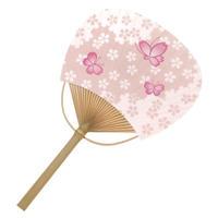 平竹うちわ(小)<桜蝶々>