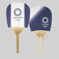 東京2020オリンピックエンブレム 小判型 竹うちわ