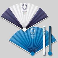 東京2020オリンピックエンブレム スイング扇子 ブルー
