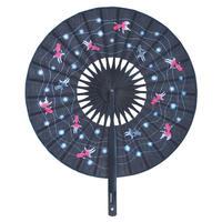 円形扇子 <金魚(黒)>