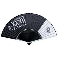 東京2020オリンピックエンブレム アルミ親骨扇子 大会呼称マーク