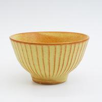 【M036yl】パンとごはんと... しのぎの茶碗  yellow