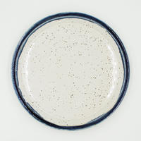 【CP006】CHIPS plate. PREMIUM white-navy drop