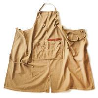 【BB001br】 BRICKS WORK APRON brown