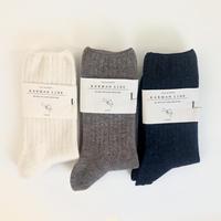 KARMAN LINE / Taurus ( 単色 wool rib socks )