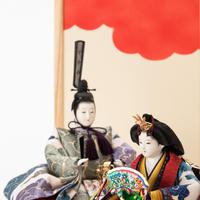 京十番親王飾「唐織袋帯:雲文錦」