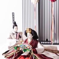 京十番親王飾「プラチナ箔袋帯:御印文浜茄子」