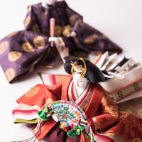 京十番親王飾「小葵地浮線の丸文錦」