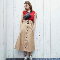 <ADIRA>trench long skirt AR181SK12