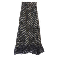 <ADIRA>draw strings flower long skirt AR182SK17