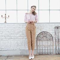 <ADIRA>hight waist pants AR181PT05