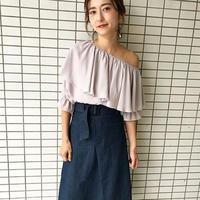 <ADIRA>one-shoulder blouse AR181TP01