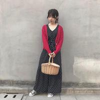 <ADIRA>sheer Knit cardigan AR181KT03