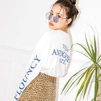<ANDGEEBEE>【UNISEX】バックロゴスリーブロンT AG191CS08