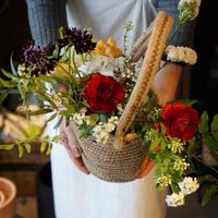 【お届けは5月10日以降となります】カゴバッグ×花束セット ギフト フラワーギフト プレゼント 花束 カゴバッグ フラワーアレンジメント母の日
