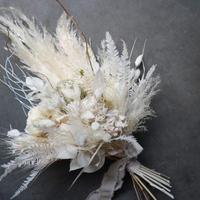 ドライブーケ パンパス アジサイ シダ ブーケ 結婚式