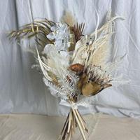 造花 ドライフラワー MIX プロテア 胡蝶蘭 パンパスグラス ブーケ スワッグ ウェディング
