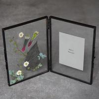 【お届けは5月10日以降となります】押し花 フォトフレーム インテリア グリーン 新生活 ギフト お祝い 母の日