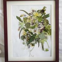 【オリジナルプレス装飾】思い出のお花を「押し花&額装」してお届けします ギフト インテリア お祝い 記念 プレゼント  のコピー