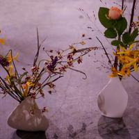 敬老の日のプレゼントに お花+陶器花瓶セット(tall) フラワーベース 花器 花瓶 陶器 インテリア オシャレ プレゼント 贈り物 ギフト