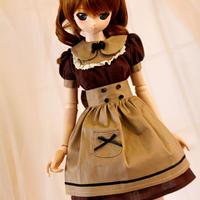 DDM/DDL 球体関節人形用ドール用衣装 メイド洋服セット