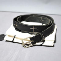 M.A+ by Maurizio Amadei / Q buckle 2.5 cm belt with silver cross