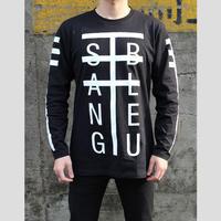 SANG BLEU / TYPO LONG SLEEV T-SHIRT