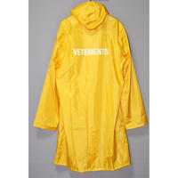 "VETEMENTS / SS16 ""VETEMENTS"" Limited edition Rain coat"