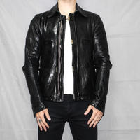 CAROL CHRISTIN POELL / O.DYED LINED SCAR STITCHED LEATHER JACKET