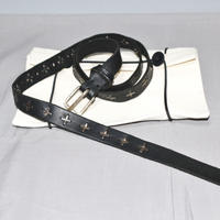 M.A+ by Maurizio amadei / Silver cross studs long belt