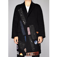 RAF SIMONS x STERLING RUBY / 100% CASHMERE Patch work coat