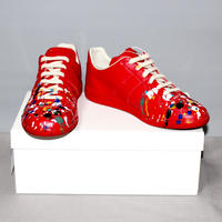 Maison Margiela 22 / Painted Red leather 70's Replica sneakers