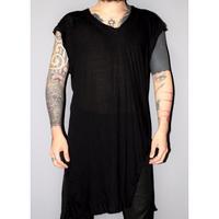 BORIS BIDJAN SABERI / Asymmetric hem T shirt