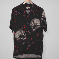 Yohji yamamoto pour homme / Skull discharge printing shirt ( Exclusive color)
